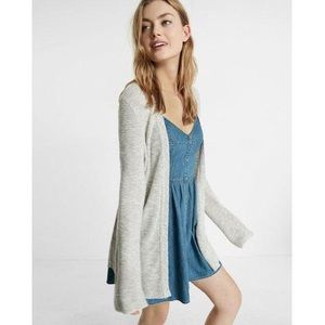 Express Marled Thermal Bell Sleeve Cover-Up